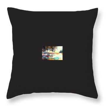 Water Inlet Throw Pillow