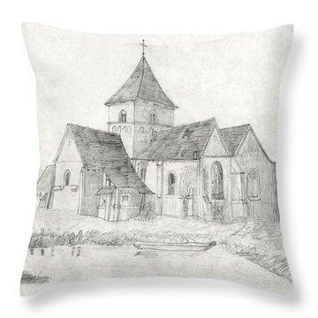 Water Inlet Near Church Throw Pillow