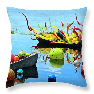 Water Joy Throw Pillow