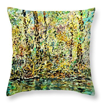 Water Kissing Land Throw Pillow