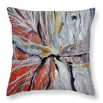 Water Leaks Throw Pillow