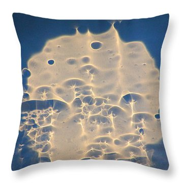 Water Light Glass Throw Pillow