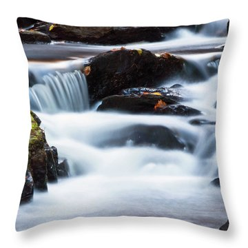 Water Like Mist Throw Pillow