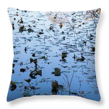 Water Lilies Autumn Song Throw Pillow