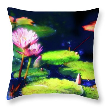Water Lilies Throw Pillow by Harry Spitz