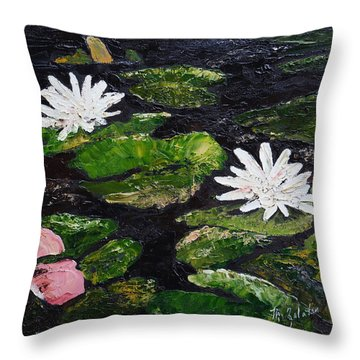 Water Lilies I Throw Pillow