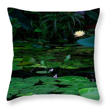 Water Lilies In The Pond Throw Pillow