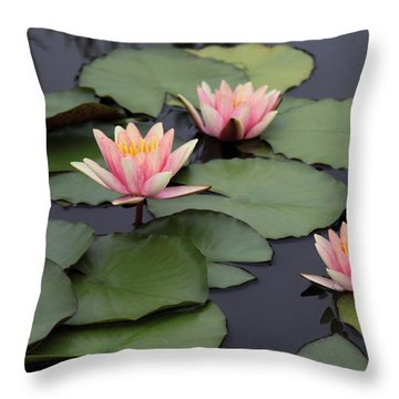 Throw Pillow featuring the photograph Water Lilies by Jessica Jenney