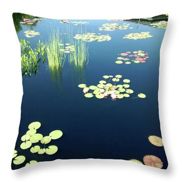 Throw Pillow featuring the photograph Water Lilies by Marilyn Hunt