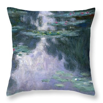 Water Lilies, Nympheas, 1907 Throw Pillow