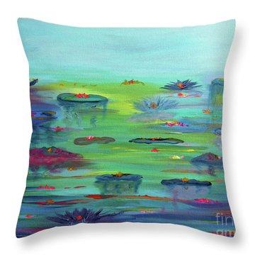 Water Lillies Throw Pillow