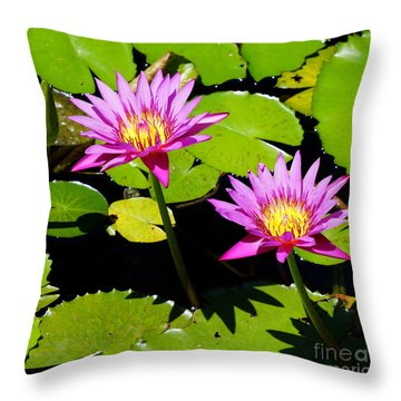 Water Lily 11 Throw Pillow