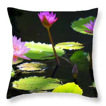 Water Lily 5 Throw Pillow