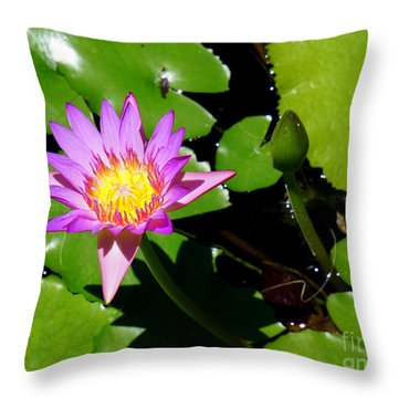 Water Lily 9 Throw Pillow