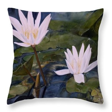 Water Lily At Longwood Gardens Throw Pillow