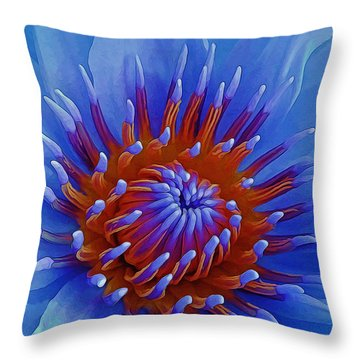 Water Lily Center Throw Pillow