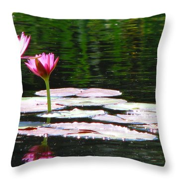 Throw Pillow featuring the photograph Water Lily by Greg Patzer