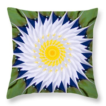 Throw Pillow featuring the photograph Water Lily Kaleidoscope by Bill Barber