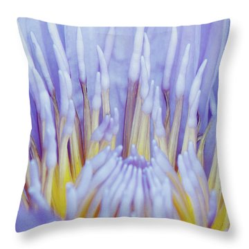 Water Lily Nature Fingers Throw Pillow by Carol F Austin