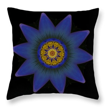 Water Lily Purple Throw Pillow