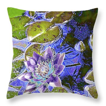 Water Lily Throw Pillow by Robert Ball