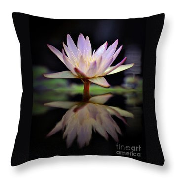 Throw Pillow featuring the photograph Water Lily by Savannah Gibbs