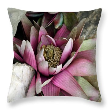Water Lily - Seerose Throw Pillow