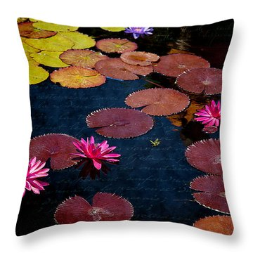 Water Lily World Throw Pillow