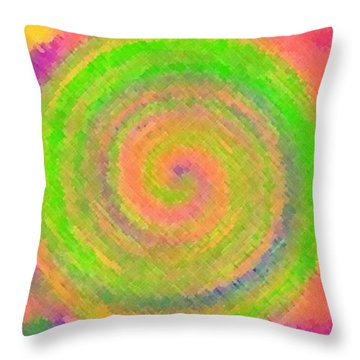 Water Melon Whirls Throw Pillow by Catherine Lott