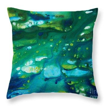 Water Movement Throw Pillow