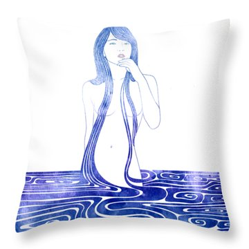 Water Nymph C Throw Pillow