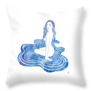Water Nymph Cii Throw Pillow