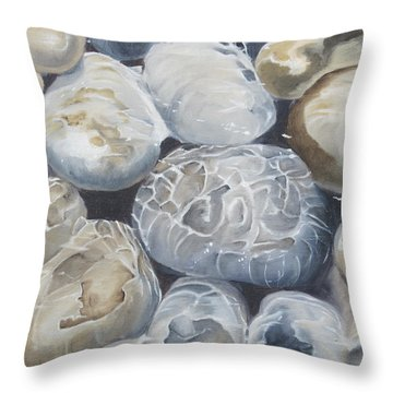Water Of Pebbles Throw Pillow