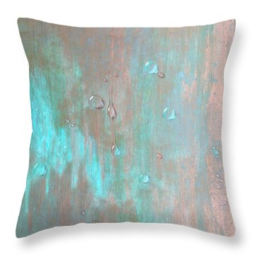 Water On Copper Throw Pillow