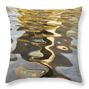Water Pattern Throw Pillow by Alfred Ng