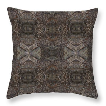 Water Pattern Throw Pillow