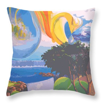 Water Planet Series - Vetor Version Throw Pillow by Leomariano artist BRASIL