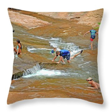 Water Play 3 Throw Pillow