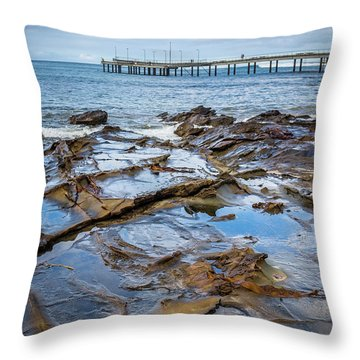Throw Pillow featuring the photograph Water Pool by Perry Webster