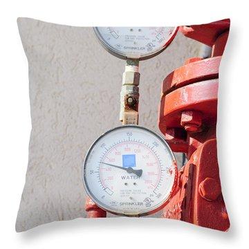 Water Pressure Gauge  Throw Pillow