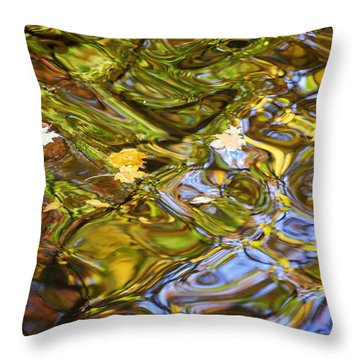 Water Prism Throw Pillow by Frozen in Time Fine Art Photography