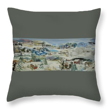 Water Pump In Winter - Sold Throw Pillow by Judith Espinoza