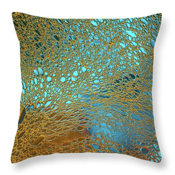Water Reef Abstract Throw Pillow
