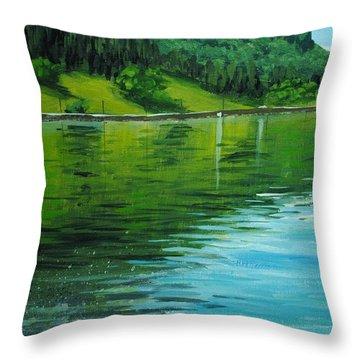 Water Reflections Throw Pillow by Nolan Clark