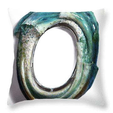 Water Ring I Throw Pillow