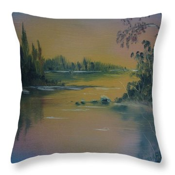 Water Scene 2a Throw Pillow