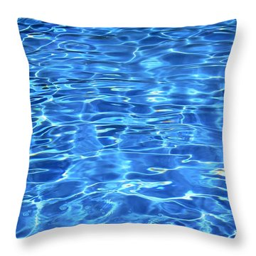 Throw Pillow featuring the photograph Water Shadows by Ramona Matei
