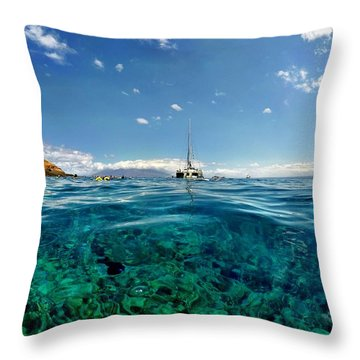 Water Shot Throw Pillow by Michael Albright