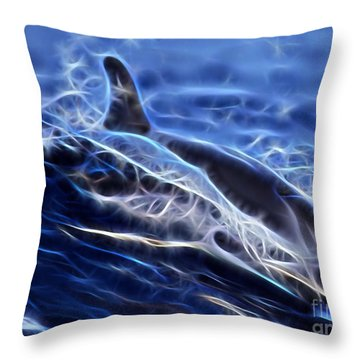 Water Skiing Throw Pillow by Marvin Blaine