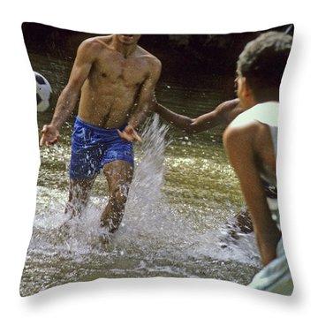 Water Soccer Throw Pillow